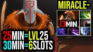 Miracle- [Juggernaut] 25Min=Lvl25, 30Min=6Slots |This is the King of Gods | Dota 2 Full Game