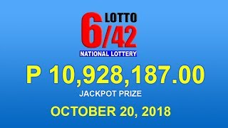 PCSO Lotto 6/42 Result October 20, 2018 - Lotto Results Today