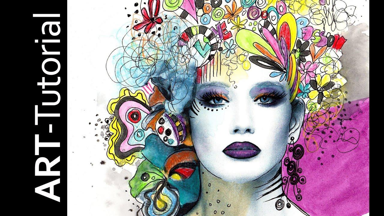 Malen mit isabelle mix print paint mit albrecht d rer - Acrylbilder malen vorlagen ...
