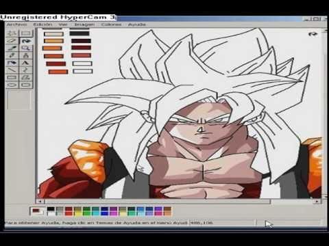 Drawing Gogeta Ssj4 ms Paint ms Paint Drawing