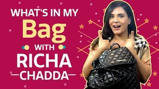What's in my bag with Richa Chadha | S03E01 | Fashion | Pinkvilla | Bollywood