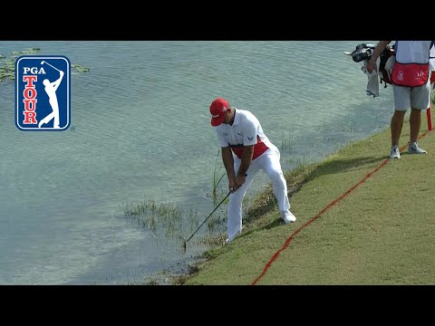 Gary Woodland's tough bogey at Hero 2019