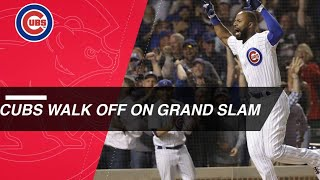 Heyward belts a walk-off grand slam to complete 9th-inning comeback