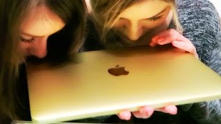 Gold MacBook unboxing | iJustine