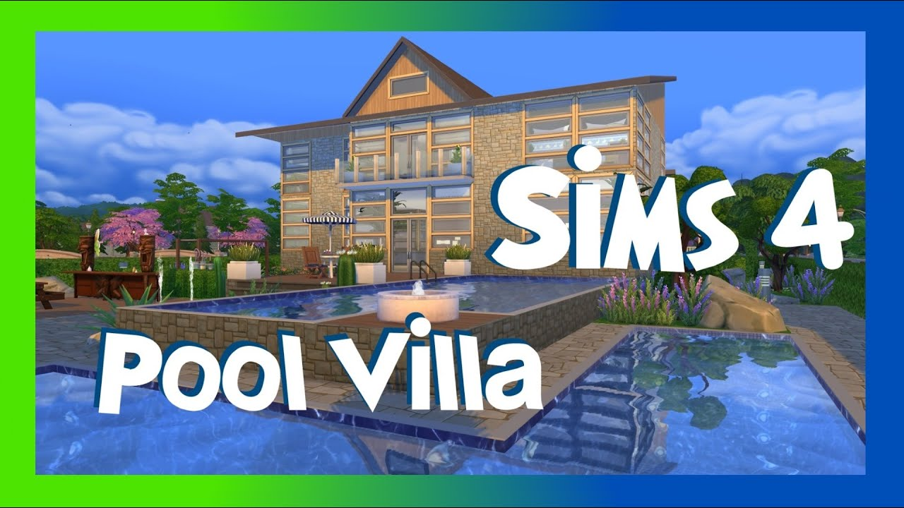 Sims 4 moderne pool villa hd haus bauen house building for Modernes haus sims 4