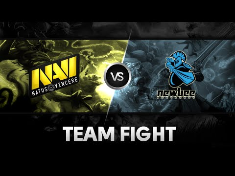 Team fight around Roshan's pit by Na'Vi vs Newbee @ The International 2014