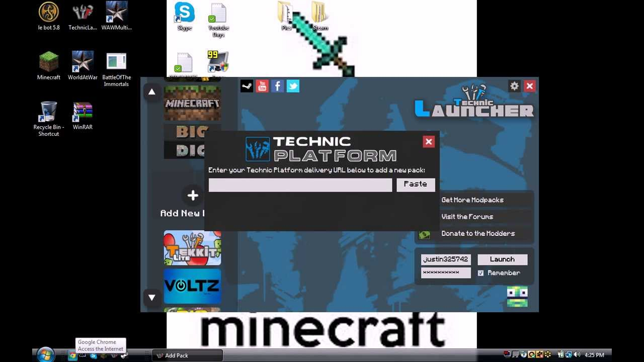 technic launcher how to add maps