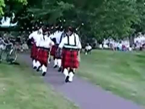 Minnesota State Fire Service Memorial Pipe Band (MSFSMPB) - Playing at Lindstrom, MN