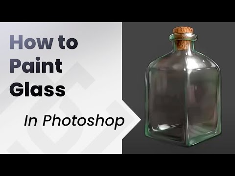 How To Paint in photoshop _ Glass Bottle ENGLISH