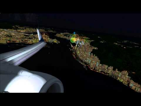 China Airlines over Hong Kong (Firework)