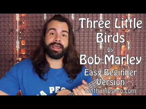 Easy Three Little Birds Ukulele Tutorial - Great Beginner First Song