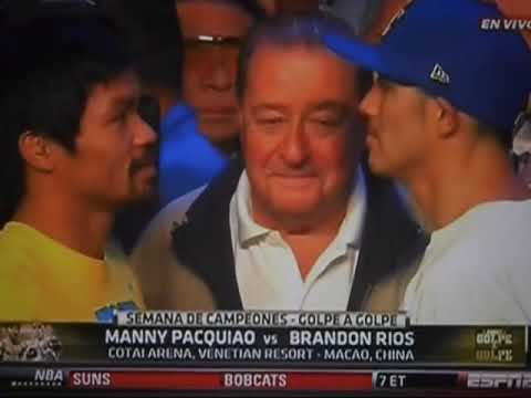 Ceremonia de Pesaje de Manny Pacquiao vs Brandon Rios Face Off