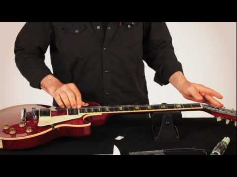 RESTRING: WITH GARY BRAWER - LES PAUL STYLE GUITAR