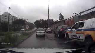 Perseguição policial a Honda CRV