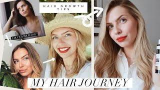 HOW I NATURALLY GREW OUT MY HAIR (Hair Growth Tips, Natural Products, Going Blonde, Supplements)