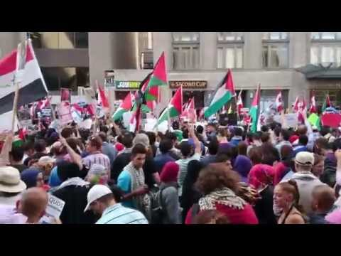 Toronto Protest the ongoing collective punishment of Palestinians 20140711