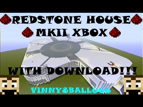 MINECRAFT REDSTONE HOUSE/MANSION WITH DOWNLOAD:MODERN: Redstone creations