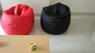 (5.54 MB) Orka XL Bean Bag Cover - Black & Red Review in hindi Mp3