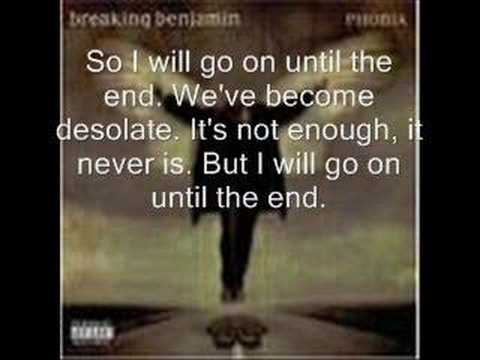 Breaking Benjamin - Until The End Lyrics video