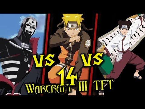 Warcraft III: TFT - Naruto Battle Royal - 14 - Hidan vs Naruto vs Tenten
