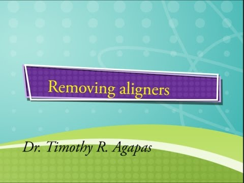 Removing your aligner