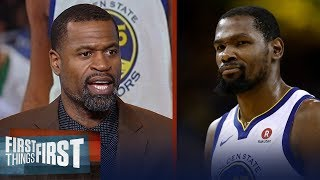 Stephen Jackson defends Kevin Durant for his lack of desire to win titles | NBA | FIRST THINGS FIRST