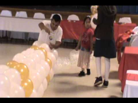 Decorando con globos para boda youtube for Ver decoraciones
