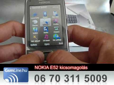 Nokia E52 teszt  | www.GsmLine.hu