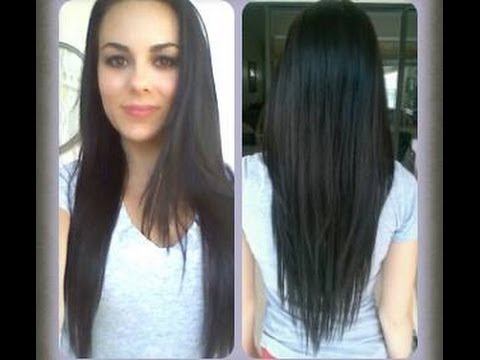 How To Cut Your Hair At Home V Shape Long Layers