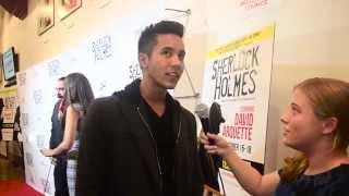 Chad Jaxon Perez Interview at Sherlock Holmes Play Opening Night