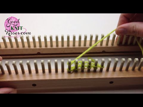 Loom Knitting: Figure 8, Fishnet Or Diamond Lace Stitch How To Make & D...