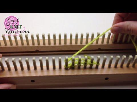 Loom Knit Cast On: E-wrap