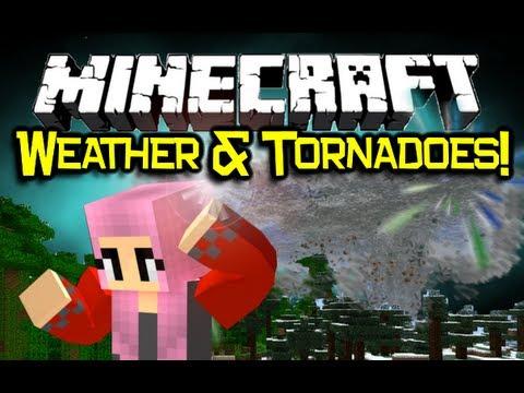 Minecraft WEATHER & TORNADOES MOD Spotlight - EPIC Destruction! (Minecraft Mod Showcase)