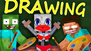 Monster School: Drawing 3 - Minecraft Animation