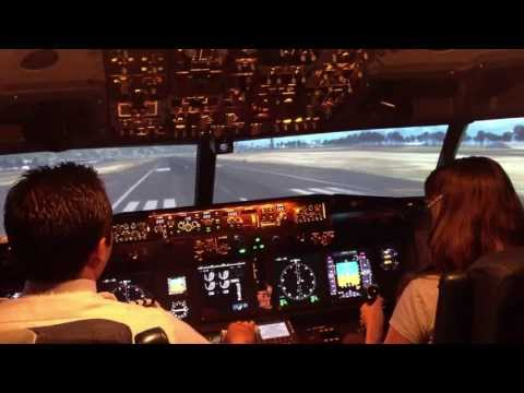Tara W. in our B737 Flight Simulator
