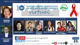 HIV/AIDS and SRHR in Asia Pacific: #APCRSHR10 Virtual in lead up to #16DaysActivism & World AIDS Day