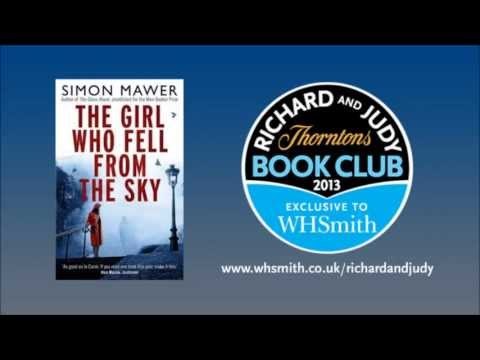 Simon Mawer - The Girl Who Fell From The Sky. WHSmith Richard and Judy Book Club Podcast Summer 2013