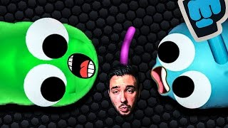 TROLLING LONGEST SNAKE ! Jelly VS Pewdiepie - Slither.io fr #5