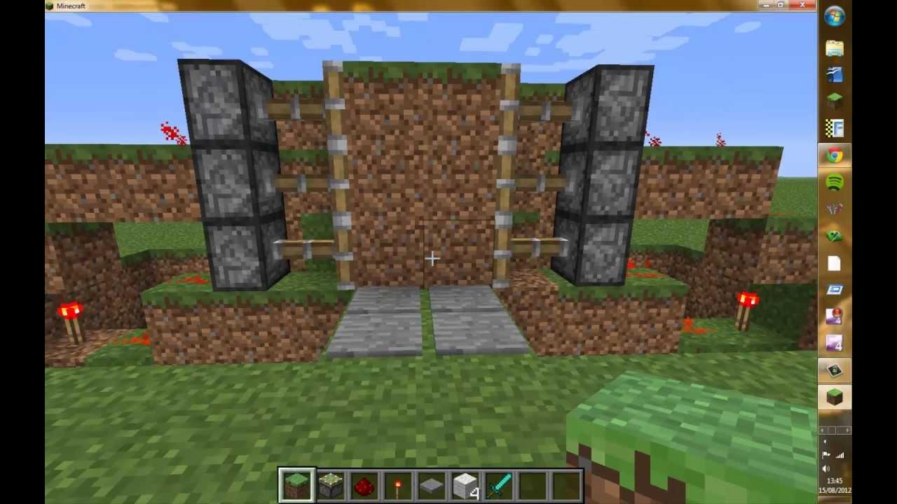 Piston Door Piston Door on Minecraft