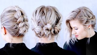 How To Style Short Hair Three Different Ways | Milabu