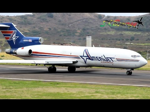 727,737,777,ATR 42,Fairchild Metro III action @ St. Kitts (HD 1080p)