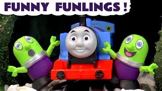 Funny Funlings prank Thomas and Friends toy trains TT4U