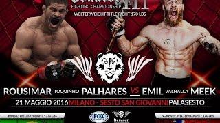 """Emil Weber """"Valhalla"""" Meek vs. Rousimar Palhares Full Fight"""
