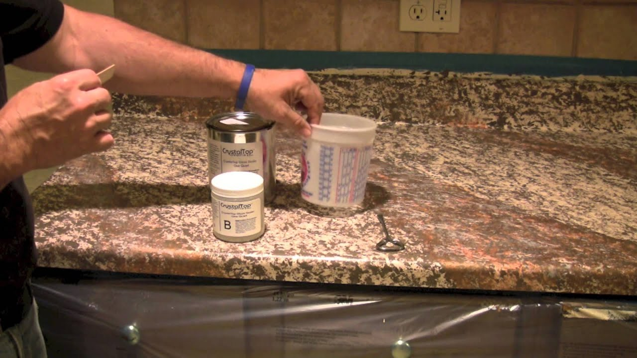 Sealing Granite Countertops : Step 3: Sealing Your Painted Countertop - YouTube