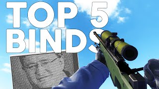 TOP 5 BINDS/COMMANDS for CS:GO Competitive