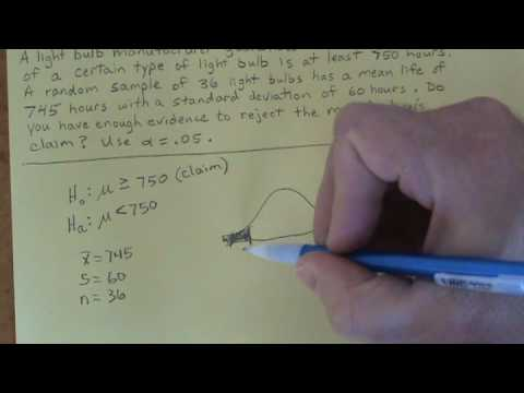One-sample hypothesis test - Mr. Olson
