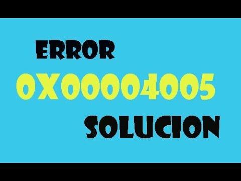 ERROR 0x80004005 Windows 7/8/10 I SOLUCIÓN 2021