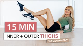 15 MIN THIGH WORKOUT - focus on inner thighs, tone & tighten / No Equipment I Pamela Reif