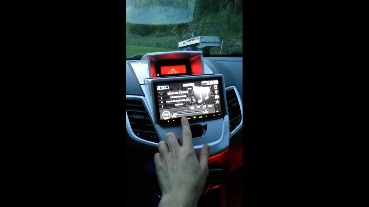 Ford Fiesta 2010 2din Pioneer Avh 8400bt Led Youtube