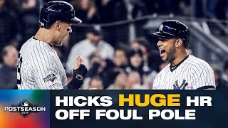 HUGE Yankees inning: Aaron Hicks hits FOUL POLE + DJ LeMahieu hits lead-off HR in ALCS Game 5